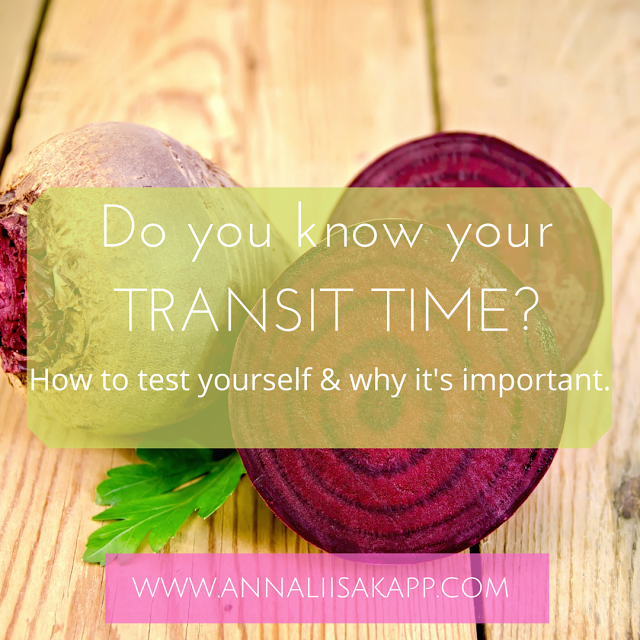 Do you know your TRANSIT TIME_