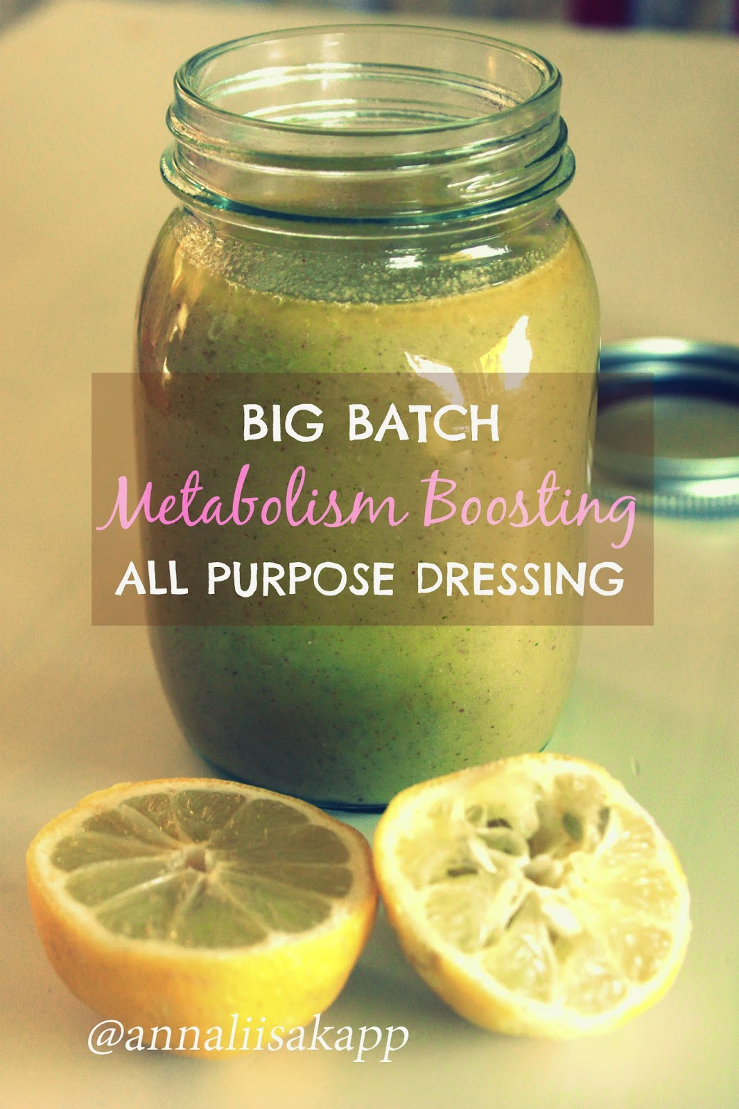 Big Batch Metabolism Boosting Dressing with Lemon, Mustard and Maple